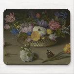 Pintura floral de la bella arte tapetes de raton