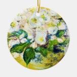 Pintura floral de las flores de Claude Monet de Ornamento Para Arbol De Navidad