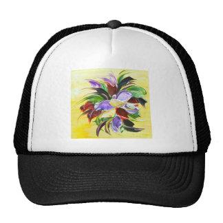pintura floral gorro