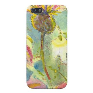 Pintura floral inglesa de las flores salvajes iPhone 5 fundas