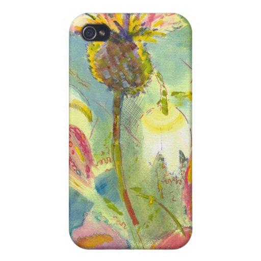 Pintura floral inglesa de las flores salvajes iPhone 4 fundas