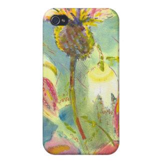Pintura floral inglesa de las flores salvajes iPhone 4 carcasas