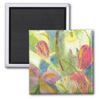Pintura floral inglesa de las flores salvajes imanes para frigoríficos