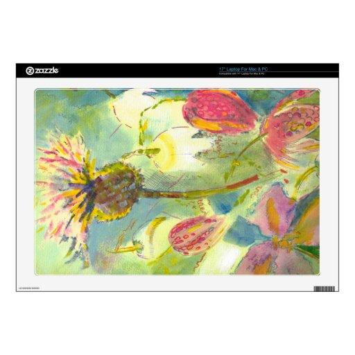 Pintura floral inglesa de las flores salvajes 43,2cm portátil calcomanías