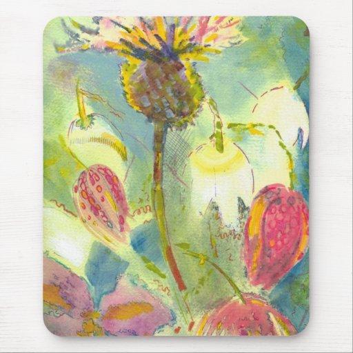 Pintura floral inglesa de las flores salvajes alfombrillas de ratones