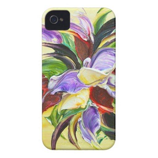 pintura floral iPhone 4 coberturas