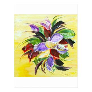 pintura floral postales