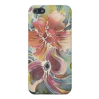 Pintura floral y de las mariposas iPhone 5 funda