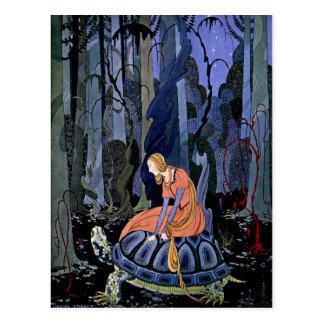 Pintura francesa del arte del cuento de hadas del tarjetas postales
