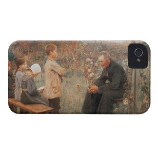 Pintura francesa del vintage cristiano de la bella iPhone 4 Case-Mate cobertura
