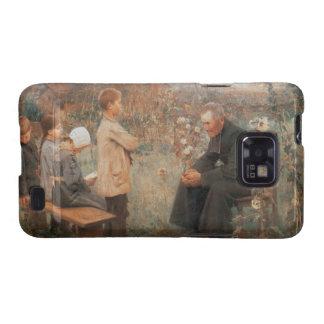 Pintura francesa del vintage cristiano de la bella galaxy s2 funda