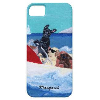Pintura fresca de Labradors del verano iPhone 5 Protectores