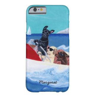Pintura fresca de Labradors del verano Funda Para iPhone 6 Barely There