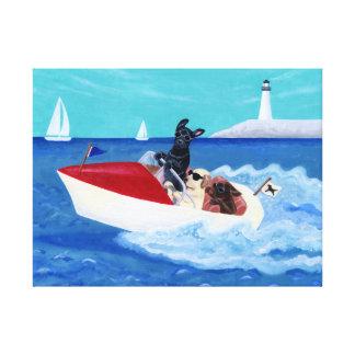 Pintura fresca de Labradors del verano Impresión En Lienzo
