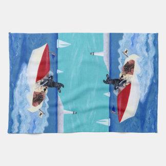 Pintura fresca de Labradors del verano Toalla De Mano