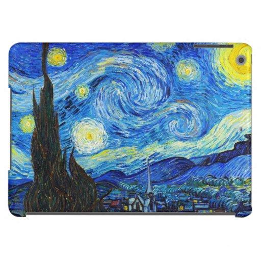 Pintura fresca de Vincent van Gogh de la noche est Funda Para iPad Air