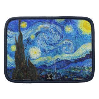Pintura fresca de Vincent van Gogh de la noche est Planificadores