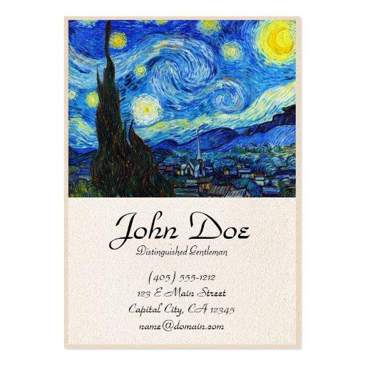 Pintura fresca de Vincent van Gogh de la noche est Tarjetas De Visita Grandes