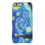 Pintura fresca de Vincent van Gogh de la noche Funda De iPhone 6 Barely There