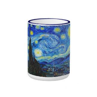 Pintura fresca de Vincent van Gogh de la noche Taza De Dos Colores