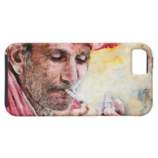 Pintura fresca del retrato de la acuarela de Sr. Funda Para iPhone SE/5/5s