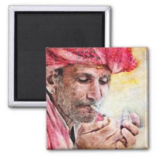 Pintura fresca del retrato de la acuarela de Sr. Imán Cuadrado