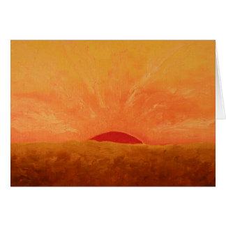 Pintura gloriosa de la salida del sol tarjeta de felicitación