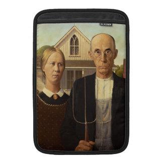 Pintura gótica americana de la bella arte de Grant Funda MacBook