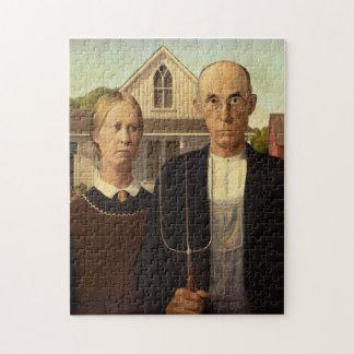 Pintura gótica americana de la bella arte de Grant Rompecabezas Con Fotos