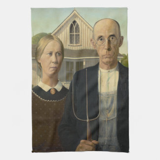 Pintura gótica americana toalla