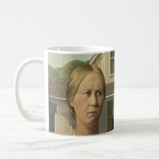 Pintura gótica americana taza de café