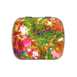 pintura gráfica abstracta de neón del día de latas de caramelos