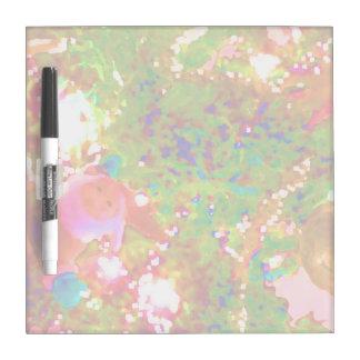 pintura gráfica abstracta de neón del día de pizarra blanca