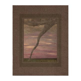 Pintura gris púrpura de la nube del embudo del impresiones en corcho