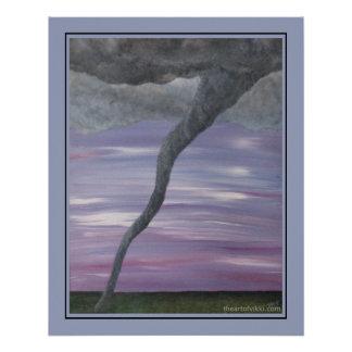 Pintura gris púrpura de la nube del embudo del