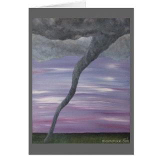 Pintura gris púrpura de la nube del embudo del tarjeta pequeña
