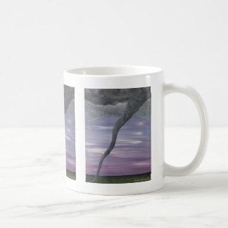 Pintura gris púrpura de la nube del embudo del taza básica blanca