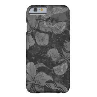 Pintura hawaiana de la roca de la lava del hibisco funda de iPhone 6 barely there