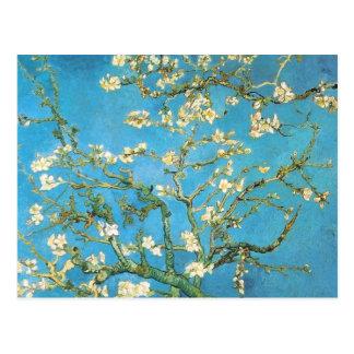 Pintura hermosa de la antigüedad del flor de la al postal