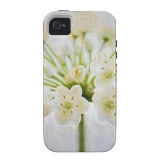 Pintura hermosa de la flor del puerro carcasa Case-Mate para iPhone 4