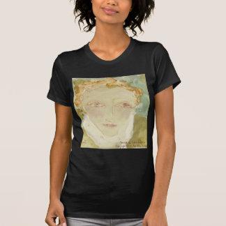 Pintura hermosa, Justo-Hecha frente de la mujer en Camiseta