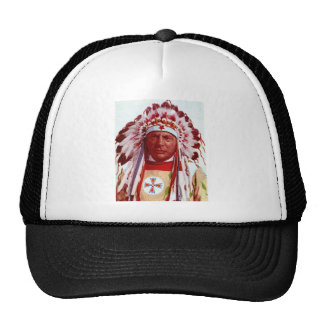 Pintura histórica del nativo americano gorra