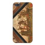 Pintura histórica, puente de madera, Luverne, iPhone 5 Carcasas