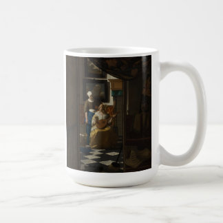 Pintura holandesa de Vermeer del artista - letra d Tazas De Café