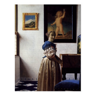 Pintura holandesa de Vermeer del artista Tarjetas Postales