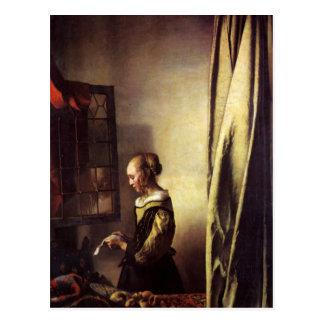 Pintura holandesa de Vermeer del artista Tarjeta Postal