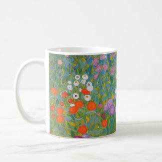 Pintura I Nouveau del jardín de flores de Klimt Tazas