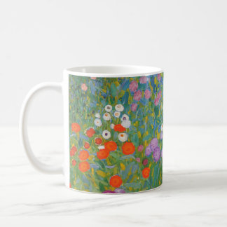 Pintura I Nouveau del jardín de flores de Klimt Taza De Café