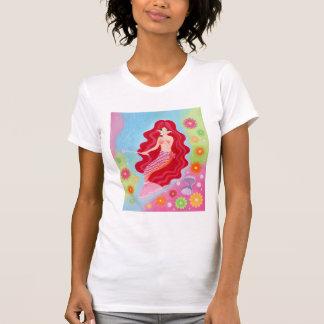 Pintura ideal de la sirena camiseta