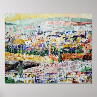 Pintura impresionista de Jerusalén Israel Poster